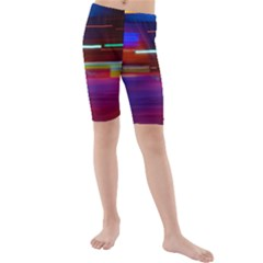 Abstract Background Pictures Kids  Mid Length Swim Shorts