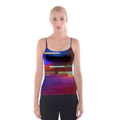 Abstract Background Pictures Spaghetti Strap Top
