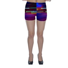 Abstract Background Pictures Skinny Shorts