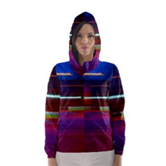 Abstract Background Pictures Hooded Wind Breaker (Women)