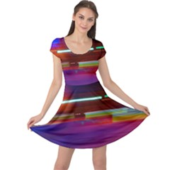 Abstract Background Pictures Cap Sleeve Dresses
