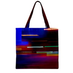 Abstract Background Pictures Zipper Grocery Tote Bag