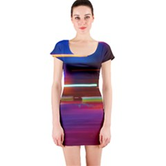 Abstract Background Pictures Short Sleeve Bodycon Dress