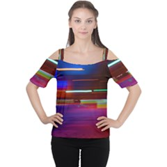 Abstract Background Pictures Women s Cutout Shoulder Tee