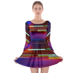 Abstract Background Pictures Long Sleeve Skater Dress