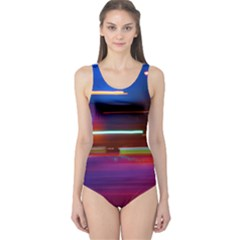 Abstract Background Pictures One Piece Swimsuit