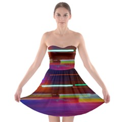 Abstract Background Pictures Strapless Bra Top Dress