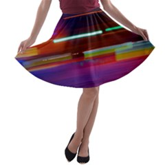 Abstract Background Pictures A-line Skater Skirt