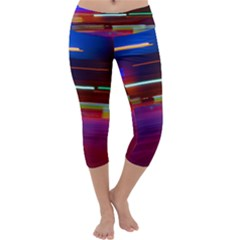 Abstract Background Pictures Capri Yoga Leggings