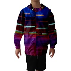 Abstract Background Pictures Hooded Wind Breaker (Kids)
