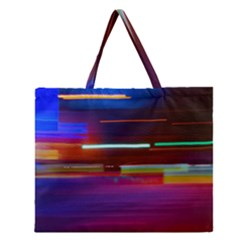 Abstract Background Pictures Zipper Large Tote Bag