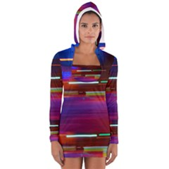 Abstract Background Pictures Women s Long Sleeve Hooded T Shirt