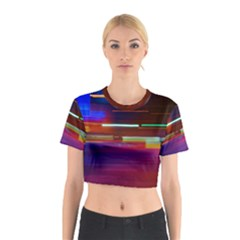 Abstract Background Pictures Cotton Crop Top