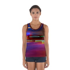 Abstract Background Pictures Women s Sport Tank Top