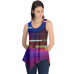 Abstract Background Pictures Sleeveless Tunic