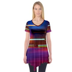 Abstract Background Pictures Short Sleeve Tunic