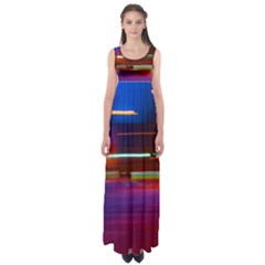 Abstract Background Pictures Empire Waist Maxi Dress