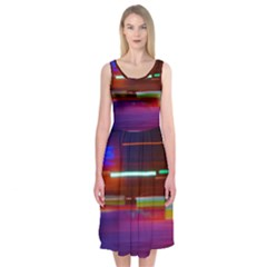 Abstract Background Pictures Midi Sleeveless Dress