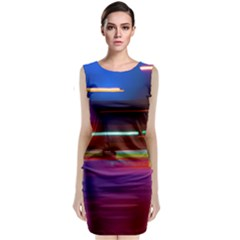 Abstract Background Pictures Classic Sleeveless Midi Dress