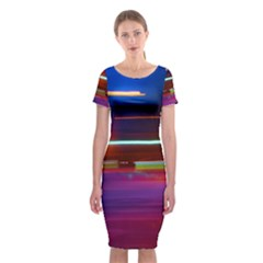 Abstract Background Pictures Classic Short Sleeve Midi Dress