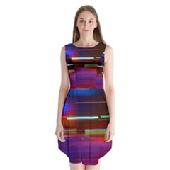 Abstract Background Pictures Sleeveless Chiffon Dress