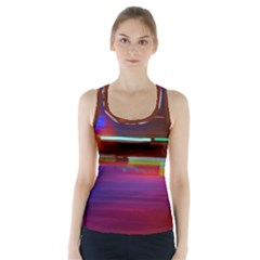 Abstract Background Pictures Racer Back Sports Top