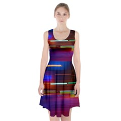 Abstract Background Pictures Racerback Midi Dress