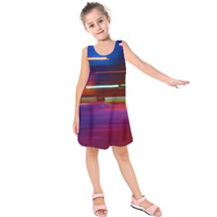 Abstract Background Pictures Kids  Sleeveless Dress
