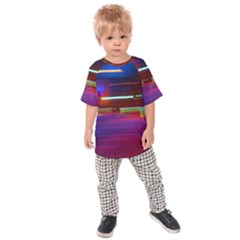 Abstract Background Pictures Kids  Raglan Tee