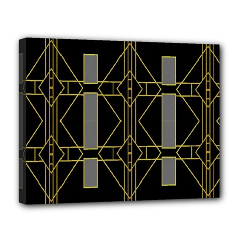 Simple Art Deco Style Art Pattern Canvas 14  x 11