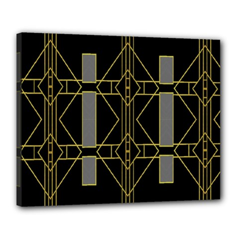 Simple Art Deco Style Art Pattern Canvas 20  X 16