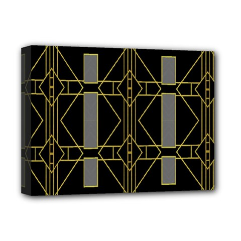 Simple Art Deco Style Art Pattern Deluxe Canvas 16  X 12