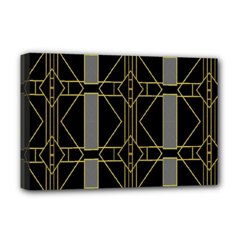 Simple Art Deco Style Art Pattern Deluxe Canvas 18  x 12