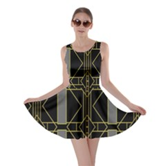 Simple Art Deco Style Art Pattern Skater Dress