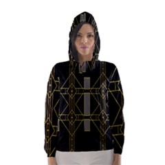 Simple Art Deco Style Art Pattern Hooded Wind Breaker (Women)
