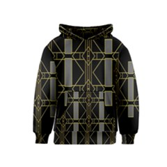 Simple Art Deco Style Art Pattern Kids  Pullover Hoodie