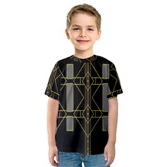 Simple Art Deco Style Art Pattern Kids  Sport Mesh Tee
