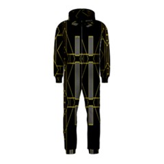 Simple Art Deco Style Art Pattern Hooded Jumpsuit (Kids)