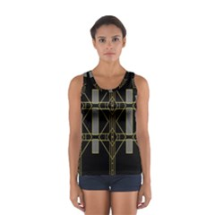 Simple Art Deco Style Art Pattern Women s Sport Tank Top