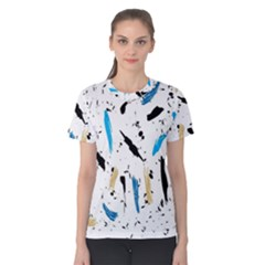 Abstract Image Image Of Multiple Colors Women s Cotton Tee