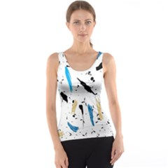 Abstract Image Image Of Multiple Colors Tank Top