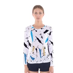 Abstract Image Image Of Multiple Colors Women s Long Sleeve Tee