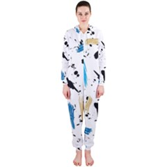 Abstract Image Image Of Multiple Colors Hooded Jumpsuit (ladies)