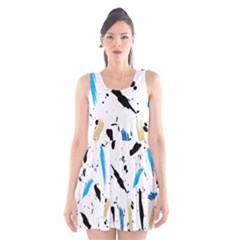 Abstract Image Image Of Multiple Colors Scoop Neck Skater Dress