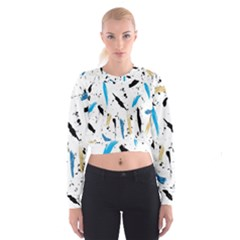 Abstract Image Image Of Multiple Colors Women s Cropped Sweatshirt