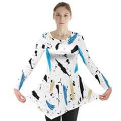 Abstract Image Image Of Multiple Colors Long Sleeve Tunic