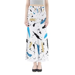 Abstract Image Image Of Multiple Colors Maxi Skirts