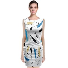 Abstract Image Image Of Multiple Colors Classic Sleeveless Midi Dress