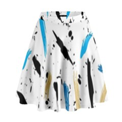 Abstract Image Image Of Multiple Colors High Waist Skirt