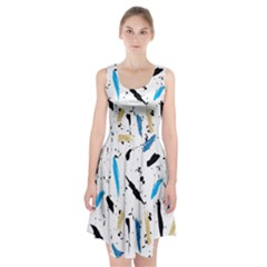 Abstract Image Image Of Multiple Colors Racerback Midi Dress